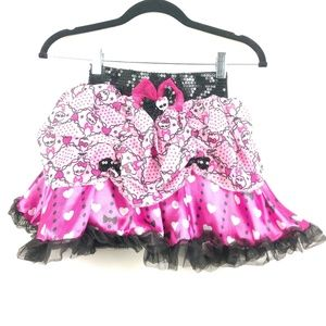 NWT Monster High Skirt Skull Bows & Hearts